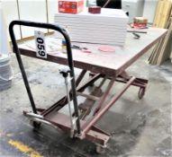 6' x 3' Scissors Lift Table, 1100lb capacity