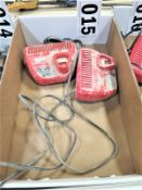(2) Milwaukee Battery Chargers