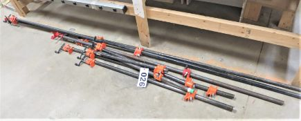 approx. (8) assorted lengths quick clamps