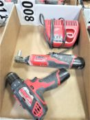 """Milwaukee 3/8"""" Drill and 3/8"""" Ratchet with Charger"""