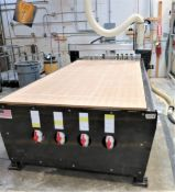 2013 EZ Router 5' x 10' Scorpion CNC Router with 10hp Becker pump, SN SC082713SCAS4B641V