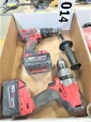 """Milwaukee 1/2"""" Hammer Drill and 1/2"""" Drill"""
