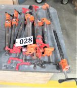 approx. (9) assorted lengths clamps
