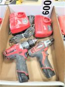 """Milwaukee 1/2"""" Drill and Company Driver with Chargers"""
