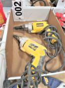 (2) Dewalt DW269 VSR Versa-Clutch Screw Drivers