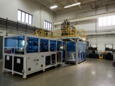 NEFF 200 Ton 4 Post Down Acting Hydraulic 4 Station(color) vertical injection molding Press