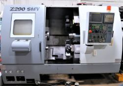 2006 Doosan Z290-SMY Twin Spindle, Twin Turret CNC Lathe W/Milling & Y-Axis, S/N LXH1031, New 2006