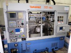 Takamaz XDE-101 CNC Twin Spindle Turning Center w/Gantry Loading System, S/N 300445, New 2006