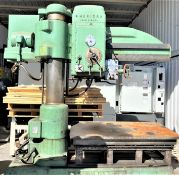 "5' x 13"" AMERICAN HOLE WIZARD RADIAL ARM DRILL PRESS"