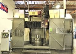 "48""/64"" G & L CNC VERTICAL BORING MILL, 48"" 4-JAW CHUCK TABLE, 64"" SWING, 48"" HIGH COLUMN,"