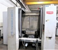 24.8 X 24.8 Pallets Toyoda FH630SX CNC 4-Axis Horizontal Machining Center, S/N NS1429, New 12/2005
