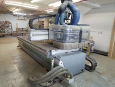 5' X 12' BIESSE ROVER B 7.40 FT CNC 3-AXIS ROUTER WITH BORING UNIT AND AGGREGATE SAW