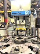 SOLD SOLD SOLD 60 Ton Komatsu OBS-60-3 Gap Bed Press w/4 Station Rotary Table, S/N 14198, New 1994