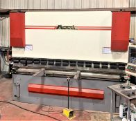190 Ton Masteel CNC 4-Axis CNC Brake Press with Crowning, S/N 0909001, New 2010