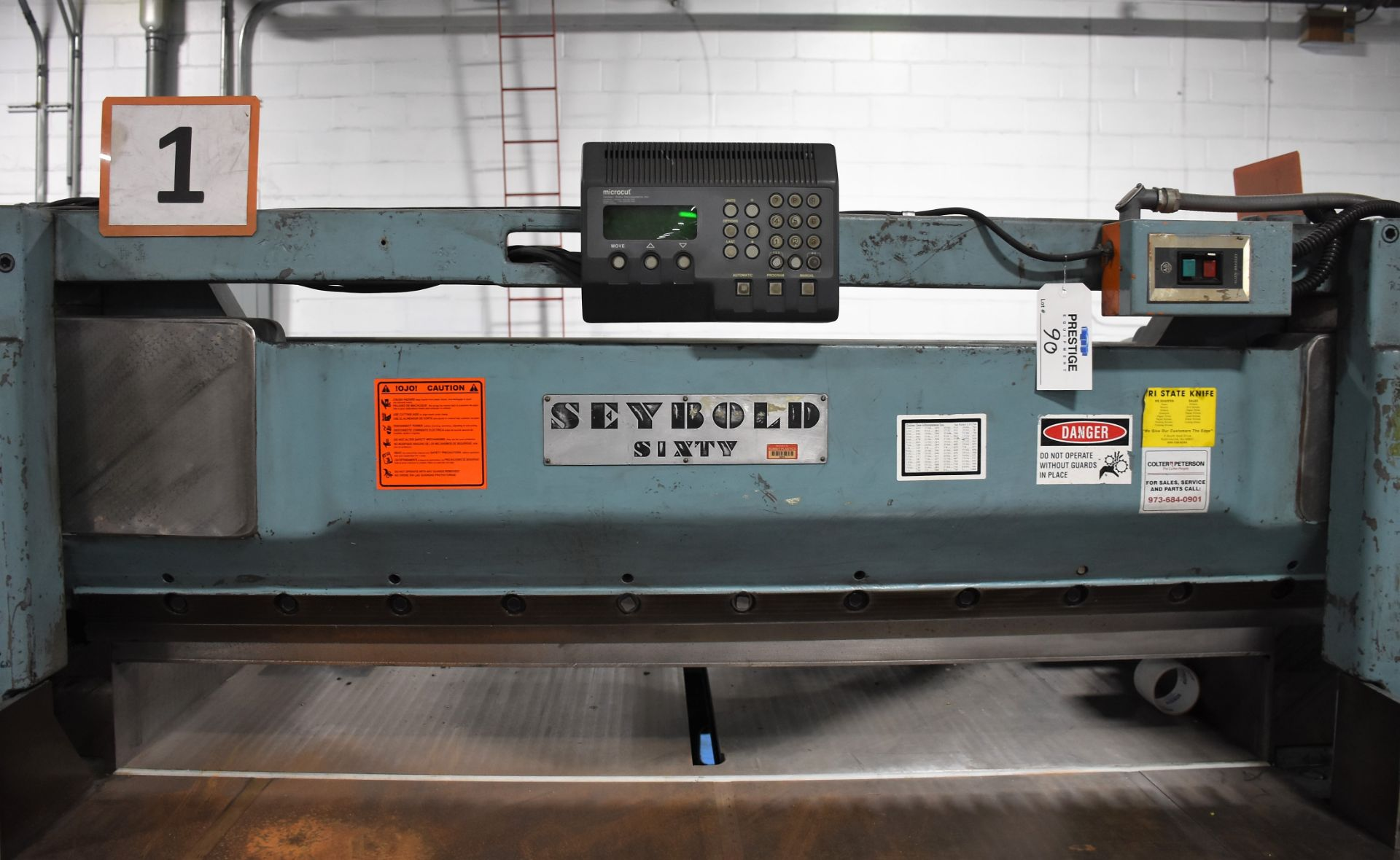 Seybold Paper Cutter, S-64 - Image 3 of 8