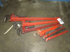 (7) Rigid Heavy Duty Pipe Wrenches