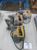 (3) Dewalt D25313 L-Shape Three Mode SDS Hammer Drills