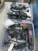 (4) Dremel Electric Power Tools