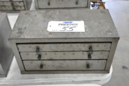Huot Style Fractional Drill 3-Draw Cabinet with Drill Contents, (Bldg 1)