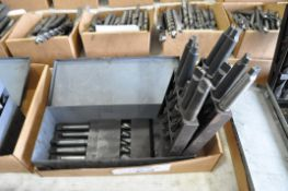 Huot Fractional Large Taper Shank Drill Index with Drills in (1) Box, (Bldg 1)