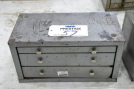 Huot Letter Drill 3-Drawer Cabinet with Drill Contents, (Bldg 1)
