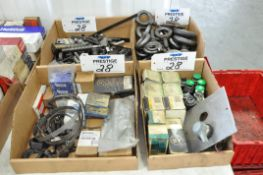 Lot-Hose Clamps, Eye Bolts, Push Button Controls, and Misc. in (4) Boxes, (Bldg 1)