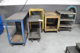 Lot-(6) Various Portable Shop Carts, (Bldg 1)