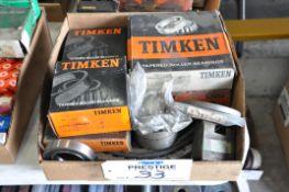 Lot-Timken Bearings in (1) Box, (Bldg 1)