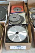 Lot-(8) Various Diamond Grinding Wheels in (1) Box, (Bldg 1)