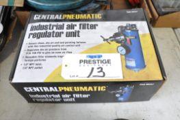 Central Pneumatic #68247 Industrial Air Filter Regulator Unit (Packaged), (Bldg 1)