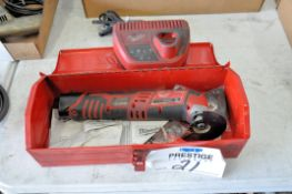 """Milwaukee Model 2426-20, 3 1/2"""" Cordless 12-Volt Angle Grinder with (1) Battery, Charger and Case, ("""