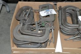 """Lot-4"""" and 6"""" C-Clamps in (1) Box, (Bldg 1)"""