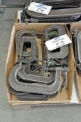 """Lot-10"""" and 12"""" C-Clamps in (2) Stacks, (Bldg 1)"""