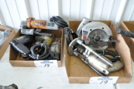 Lot-(2) Black & Decker, (1) Ingersoll-Rand and (1) Drill Master Electric Drills with (1) Skilsaw 6 1