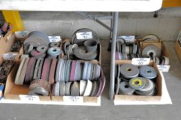 Lot-Used Grinding Wheels in (7) Boxes Under (1) Table, (Bldg 1)