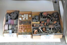 Lot-Various Die Grinding Stones in (3) Boxes Under (1) Table, (Bldg 1)