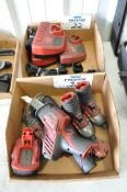 Lot-(5) Various Milwaukee 12-Volt Cordless Tools with (3) Chargers and (3) Batteries in (2) Boxes, (