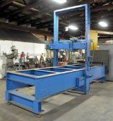 "20-Ton Custom Fabricated Designed & Engineered, Hydraulic Straightening Press, 14'L x 60""W Between"