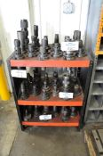 Lot-(1) Huot 50-Taper Tool Holder Stand and (1) 50-Taper Tool Holder Cart, (Tool Holders Not