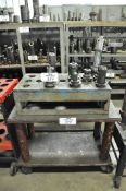 Lot-(10) Various 50-Taper Tool Holders with Cart, (Bldg 1)