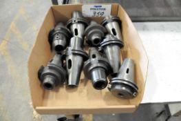 Lot-(9) CAT 50-Taper Tool Holders in (1) Box, (Bldg 1)