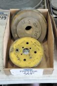 Lot-Various Wheels and Plates in (1) Box, (Bldg 1)