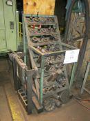 Lista Tooling Rack w/ 50-Taper Tooling, Steel Layout Table, Parts Bins, Material Jacks