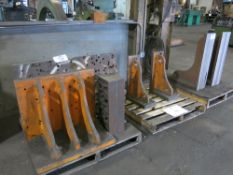 (3) Pallets of Angle Plates & Material Risers