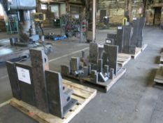 (5) Pallets of Angle Plates & Material Risers