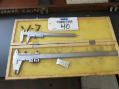 Lot of (2) Moore Wright Sheffield Calipers