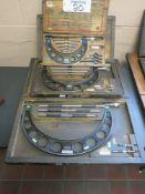 Lot of (3) Starrett Micrometers