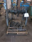 Large Lot of C-Clamps w/ Stand, Tiedowns & I-Bolts