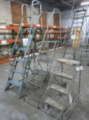 Lot of (3) Portable Aircraft Style Ladders