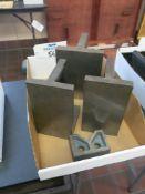 Lot of (3) Right Angle Blocks and V-Block